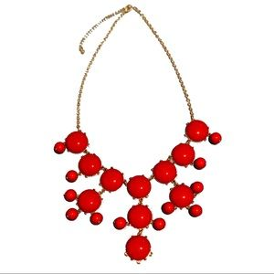 Red Bubbles Statement Necklace